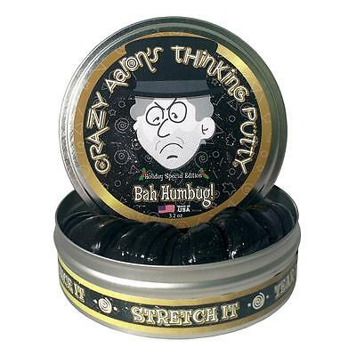 "Crazy Aaron's Thinking Putty Bah Humbug! (Ltd. Coin Included) Large 4""/10cm Tin"