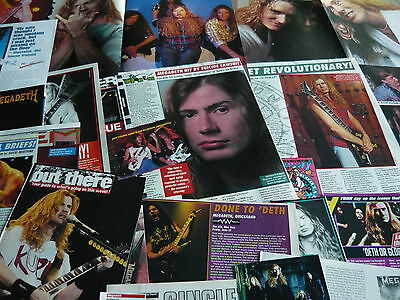 Megadeth - Magazine Poster/cuttings Collection (Ref 3)