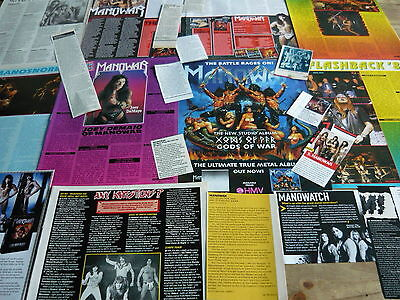 Manowar - Magazine Cuttings Collection (Ref T20)
