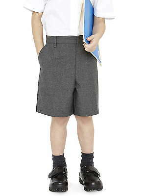 Ages 3-14 Boys Ex John Lewis Grey Navy Bermuda School Shorts Adjustable Waist