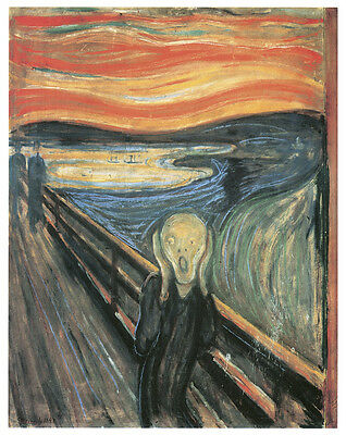 The Scream Art Canvas//Poster Print A3//A2//A1 Munch 1893