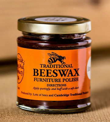 Cambridge Traditional Beeswax Wooden Furniture Polish Paste Brown Dark 142g