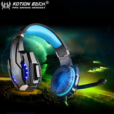 EACH G9000 3.5mm Gaming Headphone Microphone USB Headset LED Light For PS4 LAB