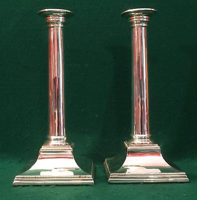 Tall elegant pair of Victorian candlesticks circa 1880 by Hawksworth Eyre &Co