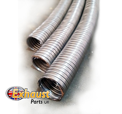 24mm x 1m Universal Flexible Stainless Steel Flexi Tube Exhaust Generator Pipe
