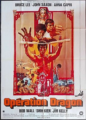 1974 ENTER THE DRAGON Bruce Lee 塔拉乌别尔格 Kung Fu French 47x63 film poster
