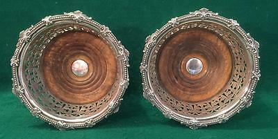 Stunning pair of hand made coasters by James Dixon & Sons Sheffield 1865.
