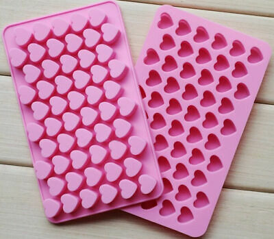 55 Sweet Hearts Silicone Chocolate Cookie Mould Baking Valentine Jelly
