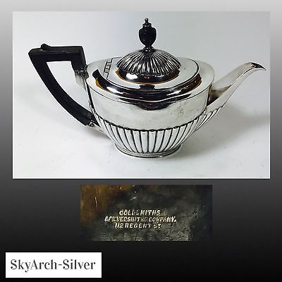SILVER PLATED Tea Pot SILVER PLATE c1920 Goldsmiths & Silversmiths LONDON