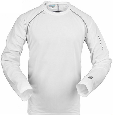 SALOMON M -WHITE Long Sleeve Hiking Quick Dry T Shirt Men ultraviolet protection