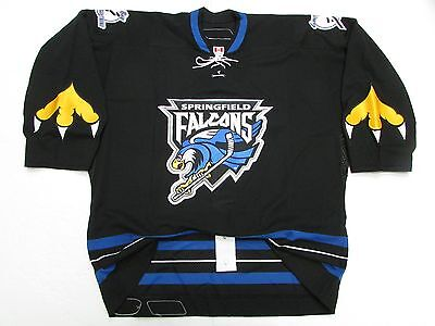 reputable site 67a89 389dc SPRINGFIELD FALCONS AUTHENTIC Ahl Black Team Issued Reebok 6100 Jersey Size  54