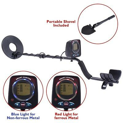 "8.5"" LCD Metal Detector Kit Sensitive Search Treasure w/Shovel Waterproof Coil"