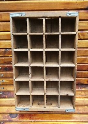 Rare Vintage YooHoo Dairy Drink Wooden Crate w/ Dividers - Excellent Condition!