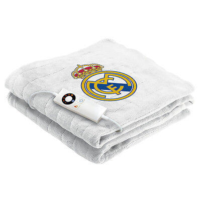 Manta Electrica Real Madrid Imetec Sofa 120 X 160 Cm Suave Blanco