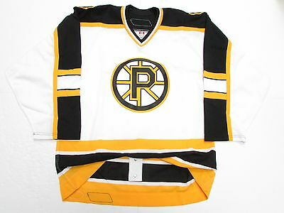 40331ad108d Providence Bruins Authentic Ahl White Pro Reebok 6100 Hockey Jersey Size 52