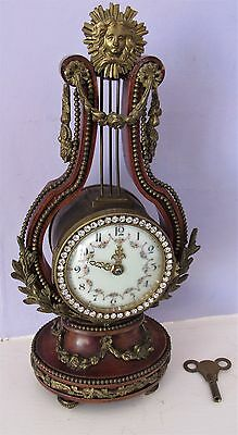 Nice Victorian Or Edwardian French Lyre Clock