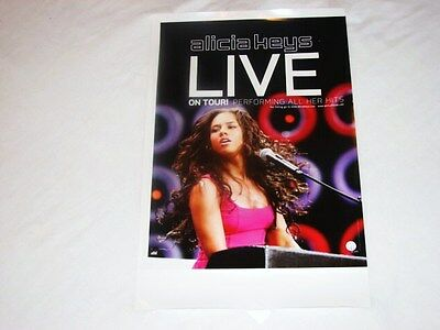 Alicia Keys & Jordin Sparks Live Concert Tour Double Sided Souvenir Poster NEW