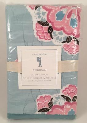 Pottery Barn Kids Brooklyn Aqua Blue Standard Sham NEW