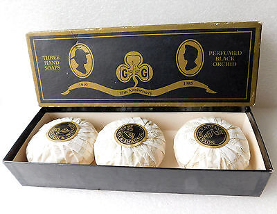 Vintage 1980s box of 3 soaps Girl Guides 75th anniversary 1985 Swanson Unused GG