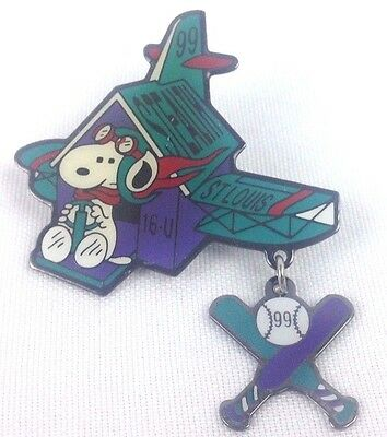 PEANUTS - Stealth St. Louis '99 Snoopy Baseball Enamel Pin - Charles Schulz