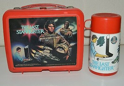 Nice Vintage 1984 The Last Starfighter Movie Plastic Lunchbox & Thermos Rare C8+