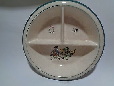 Vintage 3 Section Baby Feeding Dish Bowl Made in Japan