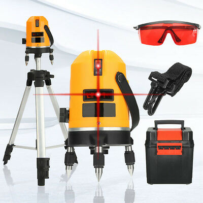 NEW Pro Automatic Self Leveling 5 Line 6 Point 4V1H Laser Level Measure & Tripod