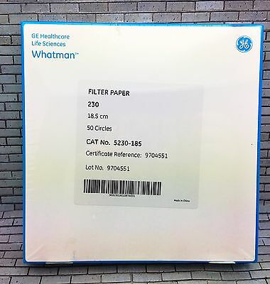 WHATMAN Filter Paper 230 18.5 cm 50 Circles Cat No. 5230 - 185 GE healthcare