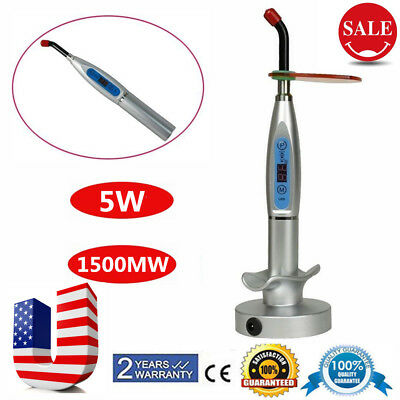 Dental Wireless Cordless LED Cure Curing Light Lamp 1500mw Tool US Plug