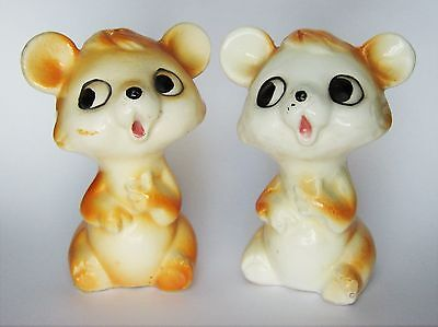 VTG Japan Collectible Salt Pepper Shaker Set Mouse mice hamsters Japanese
