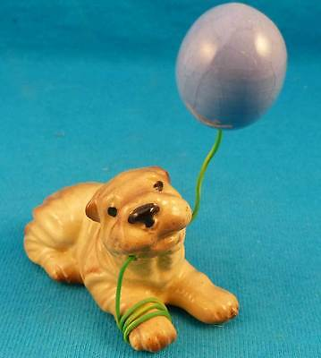 Hagen-Renaker Chinese shar pei dog w balloon discontinued EXCELLENT
