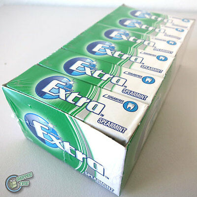 24 x 10 Pellets EXTRA Spearmint Green Wrigley's Sugarfree Chewing Gum Wrigley