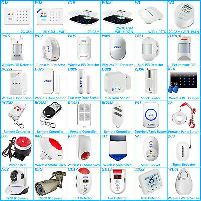 KERUI All Series Alarm Accessories for K7 W1 W2 G18 G19 W193 Alarm System Lot