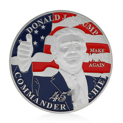 45th President Of USA Donald Trump Commemorative Coins Art Challenge Coins HOT