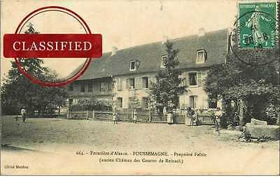 (Ph) New Cpa 90 Foussemagne *** Propriete Feltin 1909 *** Frontiere D'alsac