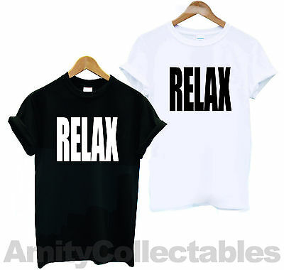 RELAX T-SHIRT Screen-Printed 80s, Frankie Says, Clubbing [2 Colours Available]