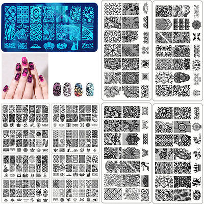 Nagelstempel Stamping Schablonen Plates Nail Art Stamp Lace Stempel DIY Template