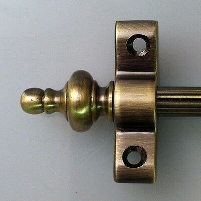 "ANTIQUE BRASS 3/8"" x 36"" INCH REED STAIR RODS URN FINIAL (R02LREU)"