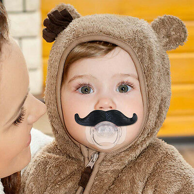 Mustache Pacifier Toddler Gift Baby Boy Girl Infant Cute Funny Nipple Newest
