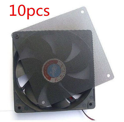 10pcs Computer PC Dustproof Cooler Fan Case Cover Dust PVC Filter Mesh 120mm New