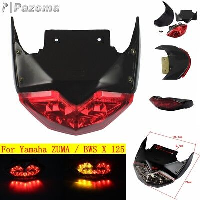 Motorcycle LED Red Tail Light Integrated Turn Signal For Yamaha BWS X ZUMA 125