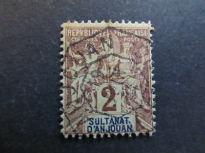 A4P18 Anjouan 1892-1907 2c used #97