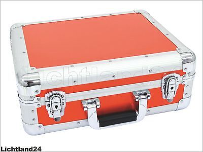 TOP! CD Case - ALU Digital-Booking ROT, eleganter Flightcase-Koffer