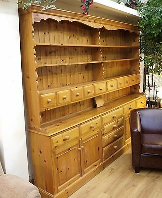 Incredible Huge 9Ft Long Pine Kitchen Welsh Dresser