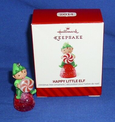 Hallmark Miniature Ornament Happy Little Elf 2014 Pixie Peppermint Gumdrop NIB 2