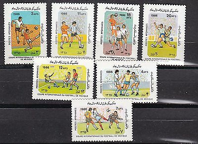afghanistan 1986 world cup,mexico,Sc 1198/204 set MNH             h1064