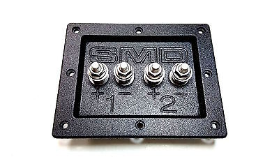 Steve Meade SMD Dual Box Terminals Heavy Duty Stainless Hardware PVC Black