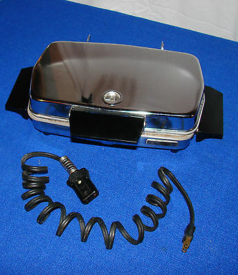 vintage MAGIC MAID Model 9190 by Son Chief chrome WAFFLE BAKER & GRILL
