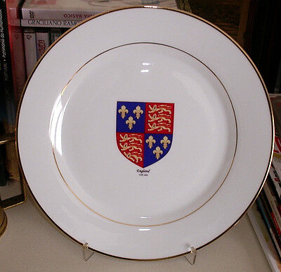 English Coat of Arms 1399-1602 Agincourt England flag CERAMIC DISH PLATE *Look*