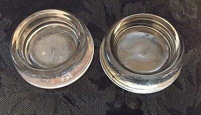 Vintage Gl Furniture Leg Coasters Carpet Protectors Anchor Hocking Set Of 2